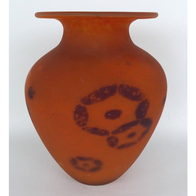 Large Charles Schneider French Art Deco Art Glass Vase with Inclusions For Sale - Image 4 of 10