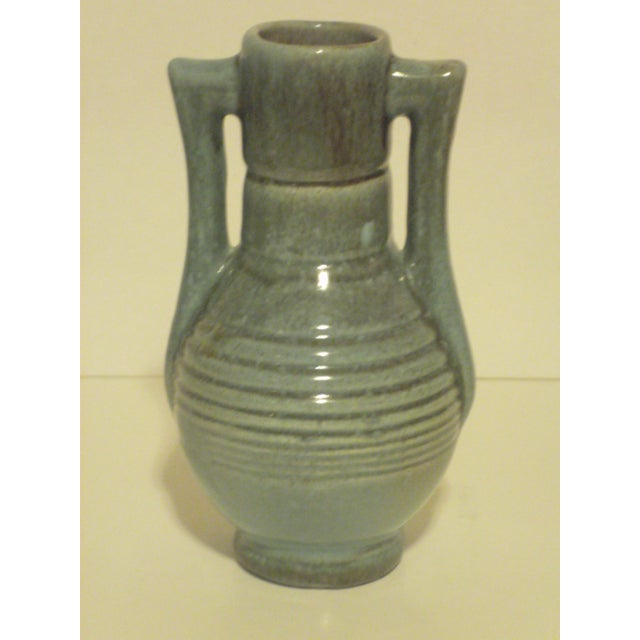 Vintage Aqua Colored Vases - Set of 3 - Image 5 of 11