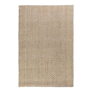 Basket Weave Natural/Bleach Jute Rug - 9 X 12 For Sale