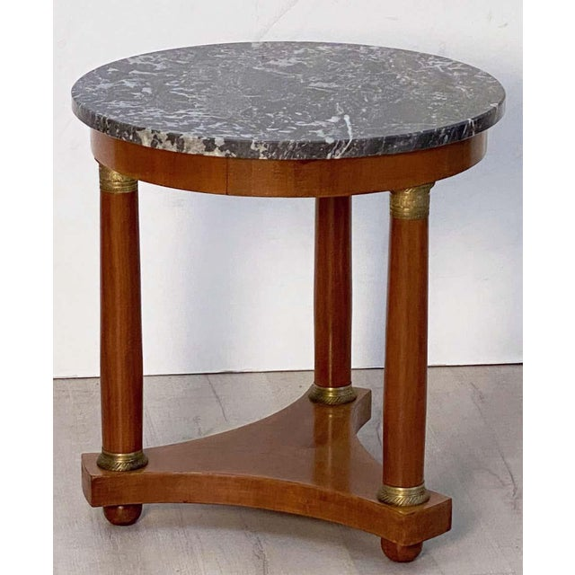French Marble-Top Table or Guéridon in the Empire Style For Sale In Austin - Image 6 of 13