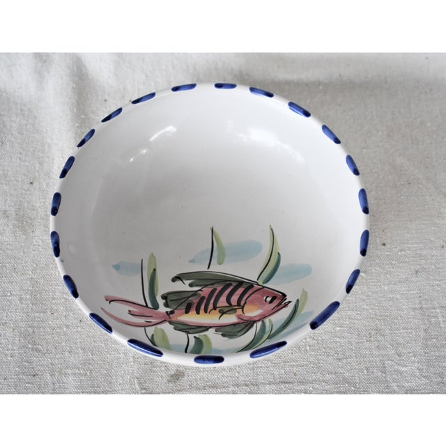 1990s Vietri Fish Decorated Bowl For Sale - Image 5 of 8