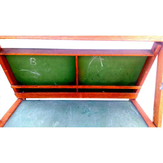 1930s Lithoplate Chalkboard & Art Desk - Image 9 of 10