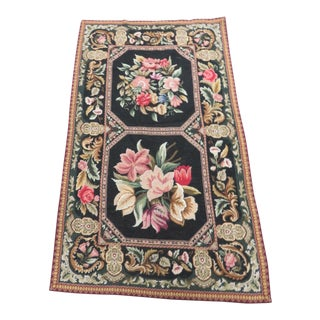 French Aubusson Floral Rug