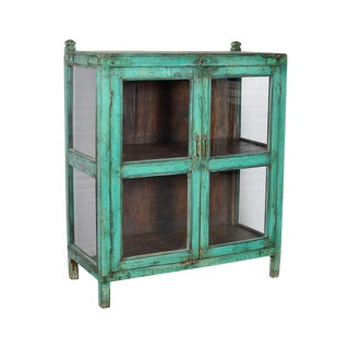 Antique Painted Display Cabinet For Sale