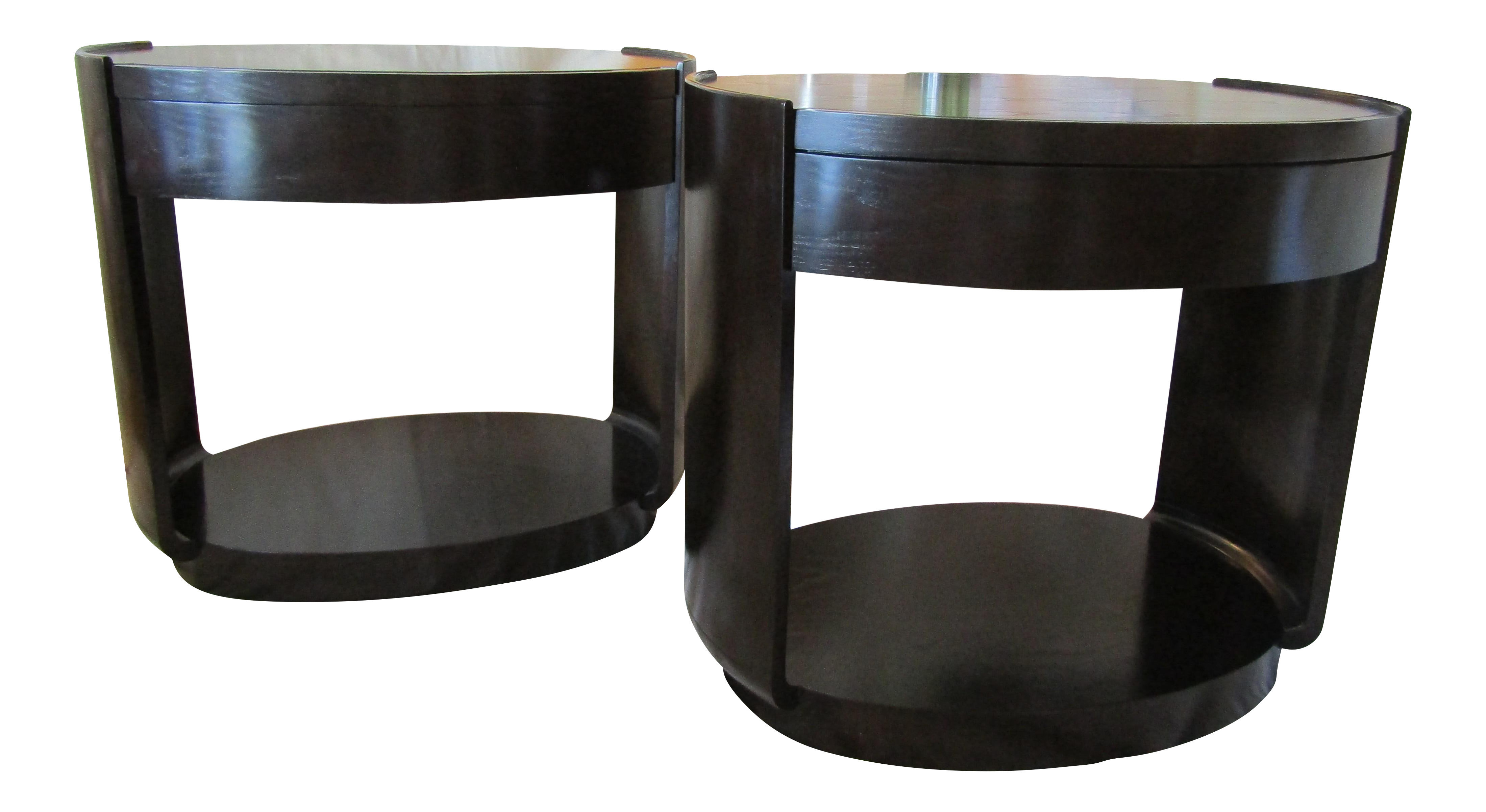 Barbara Barry For McGuire Side Table   A Pair