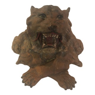 Inkwell in the Form of a Roaring Lion For Sale
