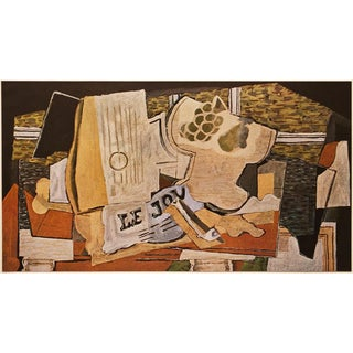 1947 Georges Braque Le Journal Lithograph For Sale