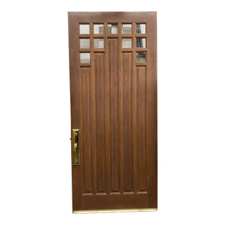 Arts and Crafts Craftsman Oversized Front Door For Sale