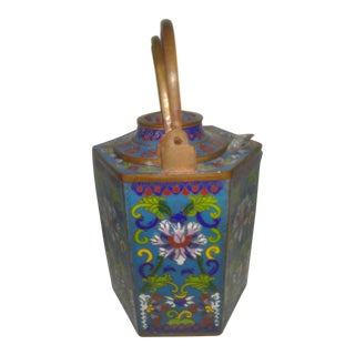 Early 20th Century Chinese Cloisonne Wine Pot Urn