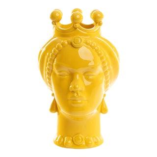 Sicilian Yellow Head Small, Schittone Modern Regina For Sale