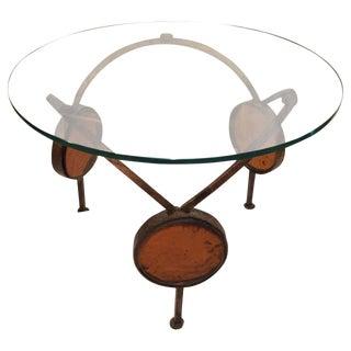 Gilt Iron & Blown Glass Artisan Table