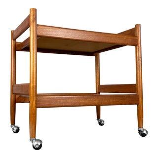 1960s Danish Teak Bar Cart For Sale
