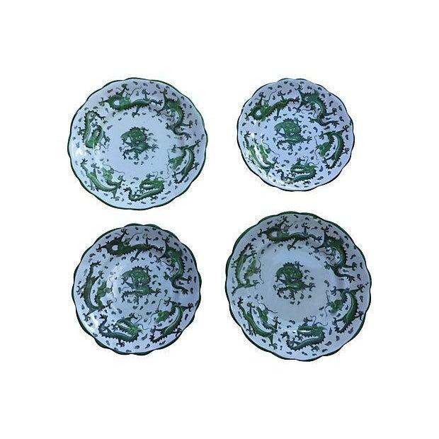 English Dragon Wall Plates - Set of 4 - Image 6 of 6
