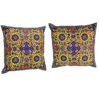 Decorative Persian Accent Pillows - A Pair For Sale