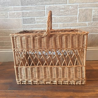 Vintage French Wicker Champagne Basket Preview