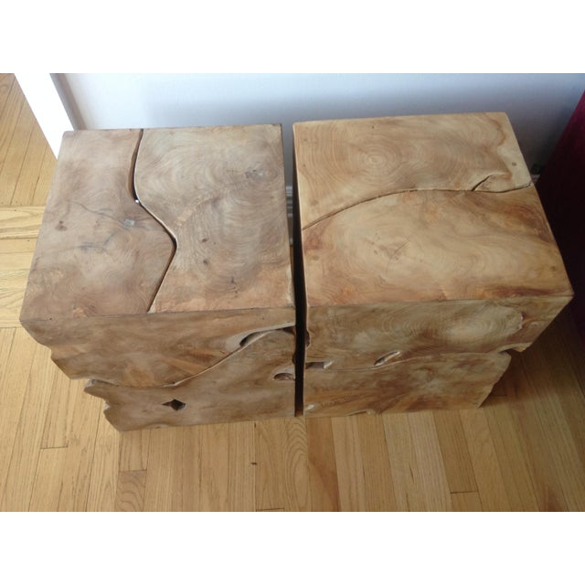 Jayson Home Milo Teak End Tables - a Pair - Image 4 of 6