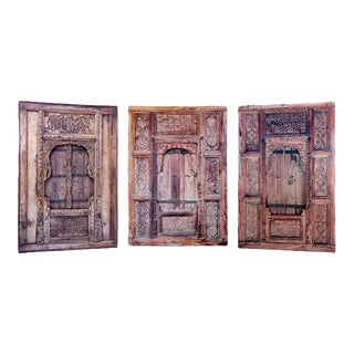 Ancient Tibetan Windows - Set of 3 For Sale