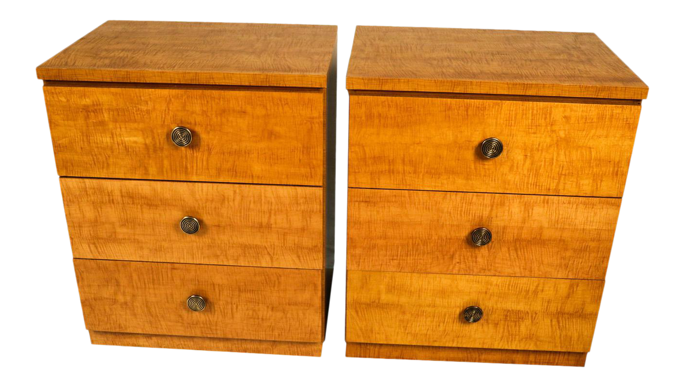 Bon Pair Mid Century Dressers Milo Baughman Style Lane Furniture