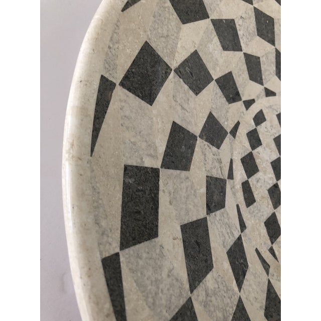 Large Vintage Tessellated Stone Platter For Sale - Image 9 of 11