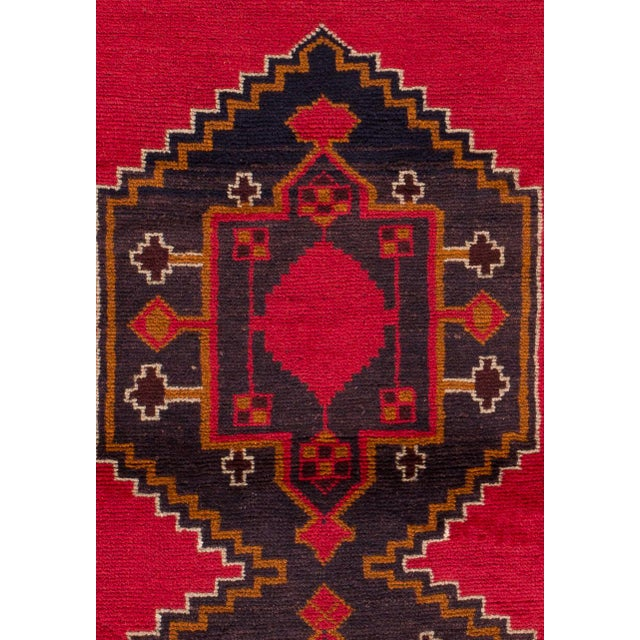 Vintage hand-knotted Pakistani Balouch/Baluch rug with a geometric motif. This piece has great colors and a beautiful...