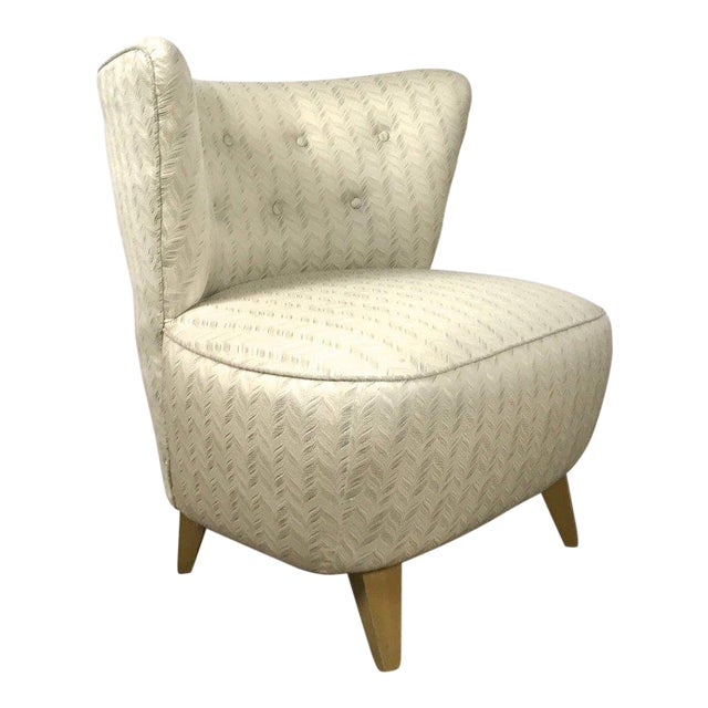 Vintage Gilbert Rohde Style Wingback Slipper Lounge Chair For Sale