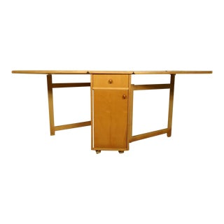 Mid-Century Modern Drop-Leaf Table With Chairs - Dining Set For Sale