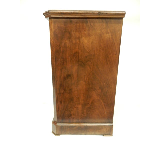 English Small English Four Drawer Walnut Chest For Sale - Image 3 of 8