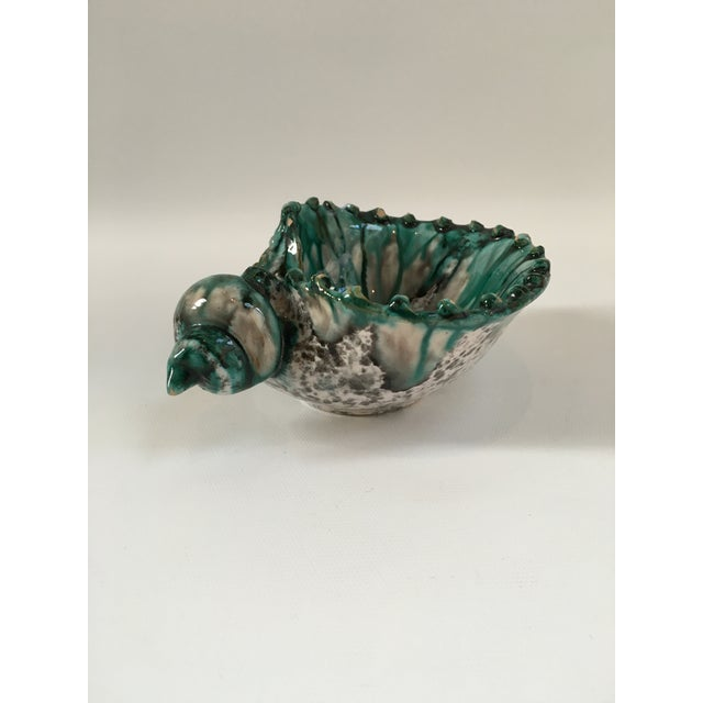 Black Italian Vintage Terra Cotta Seashell Catchall Bowl For Sale - Image 8 of 8