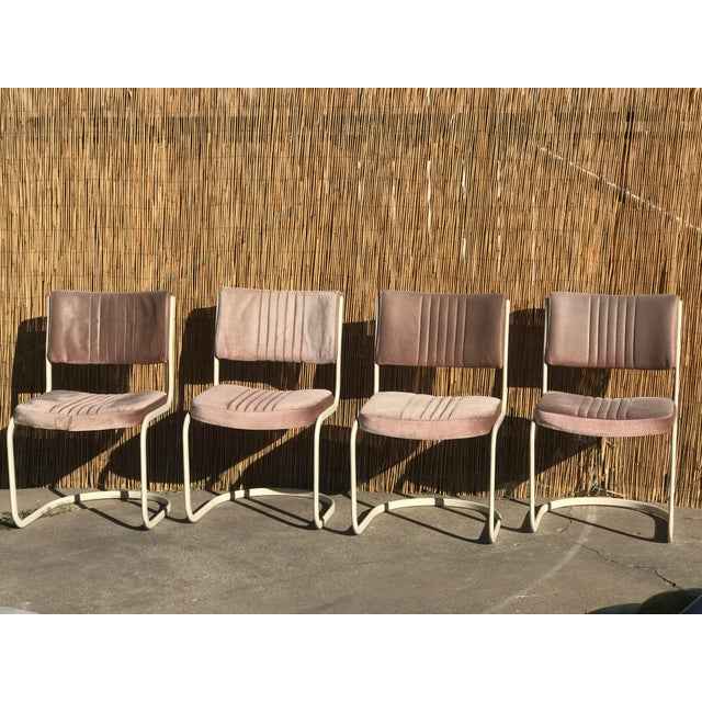 Pink 1960s Vintage Marcel Breuer by Knoll Pink Dining Chairs- 4 Pieces For Sale - Image 8 of 8