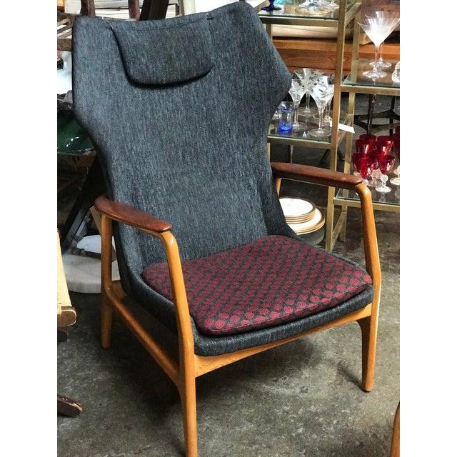 1960s Aksel Bender Madsen Danish Modern High Boy Lounge Chair For Sale - Image 5 of 5