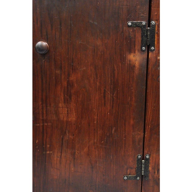 Antique Country Primitive Knotty Pine Cupboard Cabinet Sideboard Stepback Hutch For Sale - Image 10 of 12