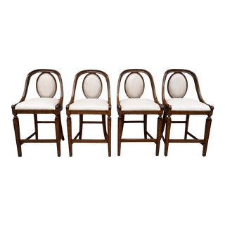 Tuscan Style Counter Stools by Stanley Furniture - Set of 4 For Sale
