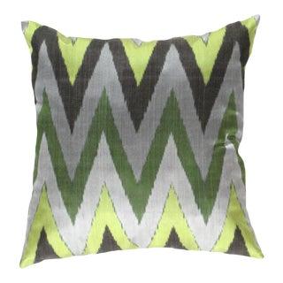 Turkish Multi Color Silk Ikat Pillow For Sale