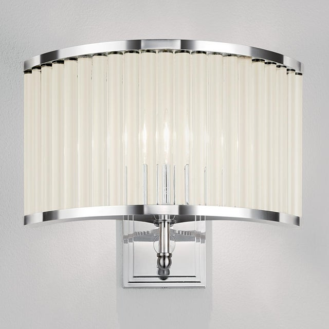 Art Deco Polished Chrome Curved Wall Light For Sale - Image 3 of 4