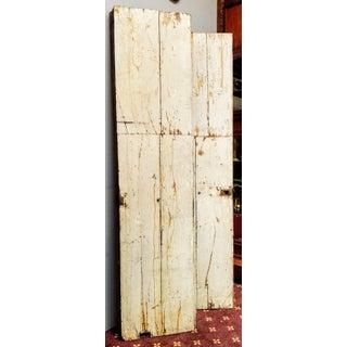 French Oak Haussmann-Paris Era Panel Doors With Cream Painted Backs - a Pair #1 Preview