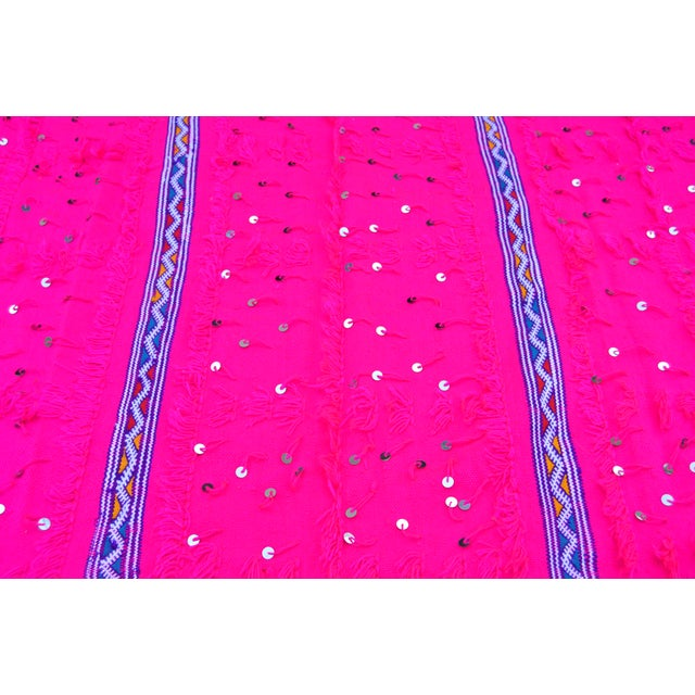 Moroccan Pink Moroccan Berber Throw For Sale - Image 3 of 3