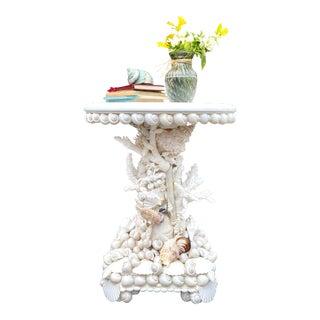 Custom Seashell Side Table For Sale