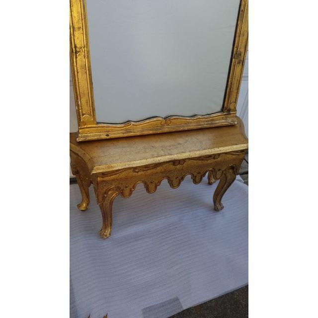 La Barge French Gold Pier Mirror & Console Table - Image 2 of 9