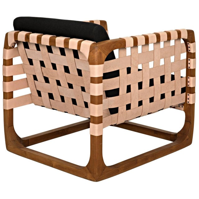 Brown Teak Nebula Chair, Natural For Sale - Image 8 of 9