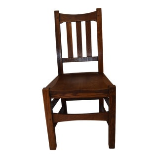 Signed Stickley Brothers Oak Chair For Sale