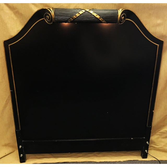 Vintage Art Deco Twin Headboard With Light For Sale - Image 9 of 13