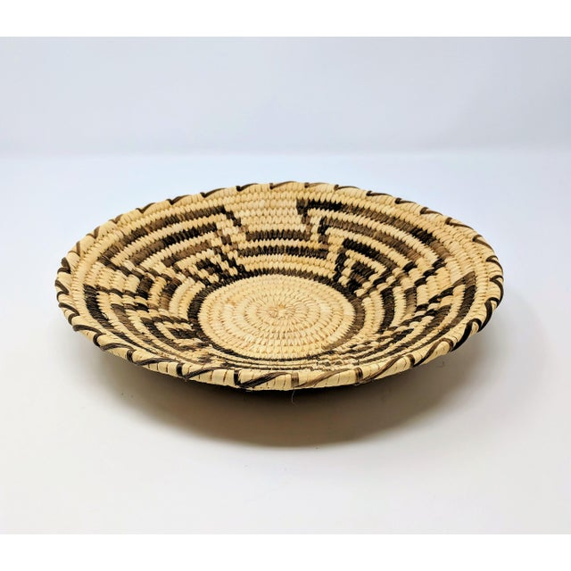 Mid-20th century Tohono O'odham sloped basket from the Sonoran Desert region of North America. In excellent condition,...