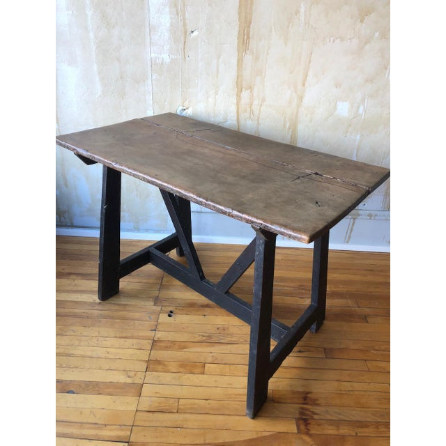 17th Century Italian Antique Trestle Table For Sale - Image 4 of 12