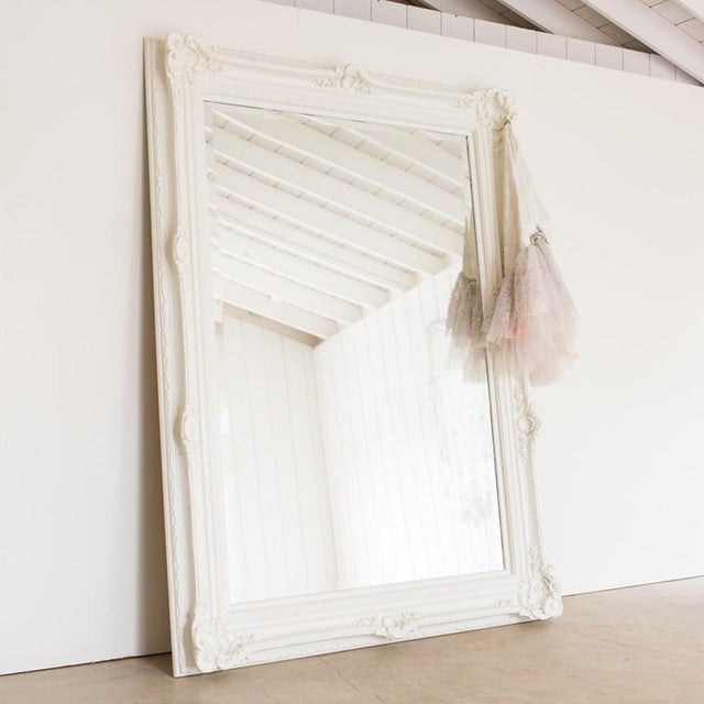 Rachel Ashwell Renaissance Large White Mirror For Sale - Image 12 of 13