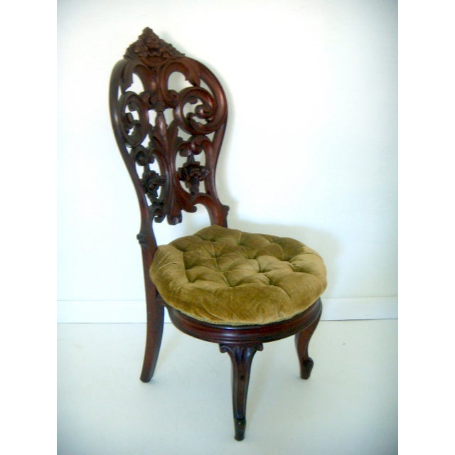 Ornate High Back Accent Chair - Image 2 of 6