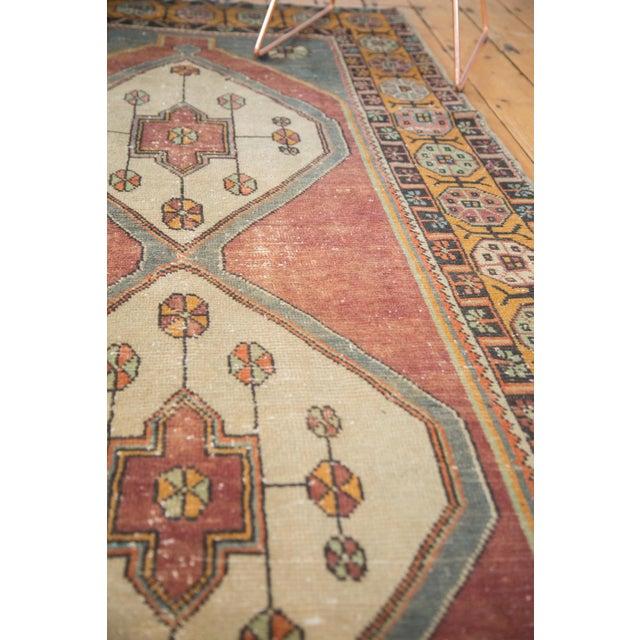 """Orange Vintage Distressed Oushak Rug Runner -3'11"""" x 9'2"""" For Sale - Image 8 of 11"""