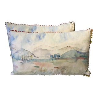 Bolsters Mountain Scene Made in Wales - a Pair For Sale