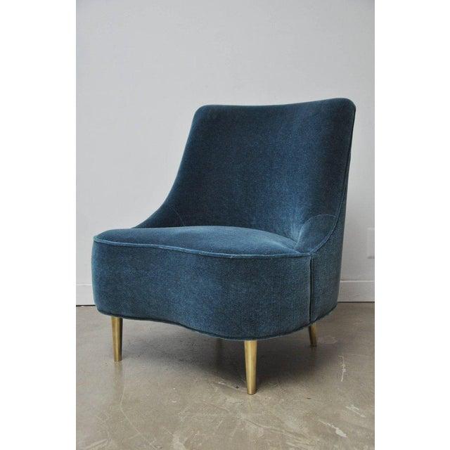 "Mid-Century Modern Dunbar ""Teardrop"" Chair by Edward Wormley For Sale - Image 3 of 7"