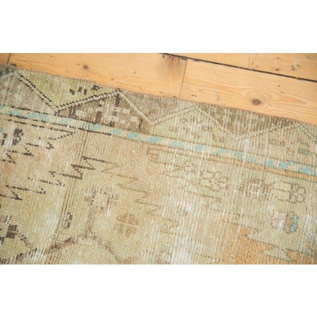"Vintage Distressed Oushak Rug Runner - 3'2"" X 9'2"" - Image 5 of 11"