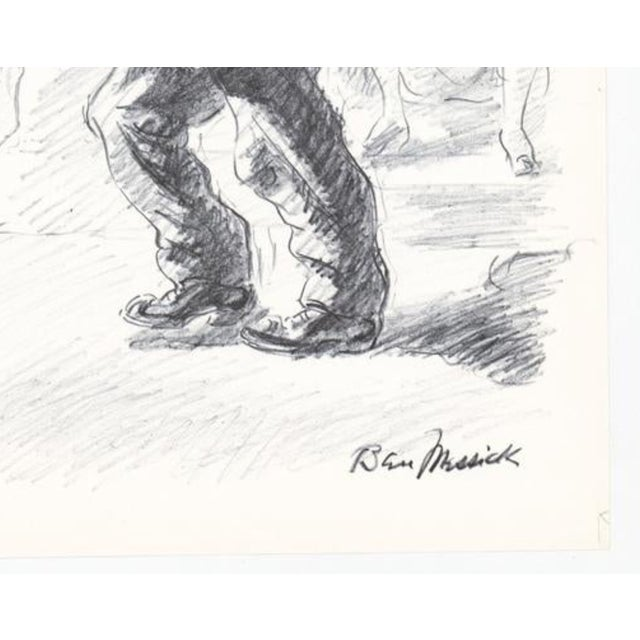 1930s Ben Messick Lithograph of Street Vendor For Sale - Image 4 of 6